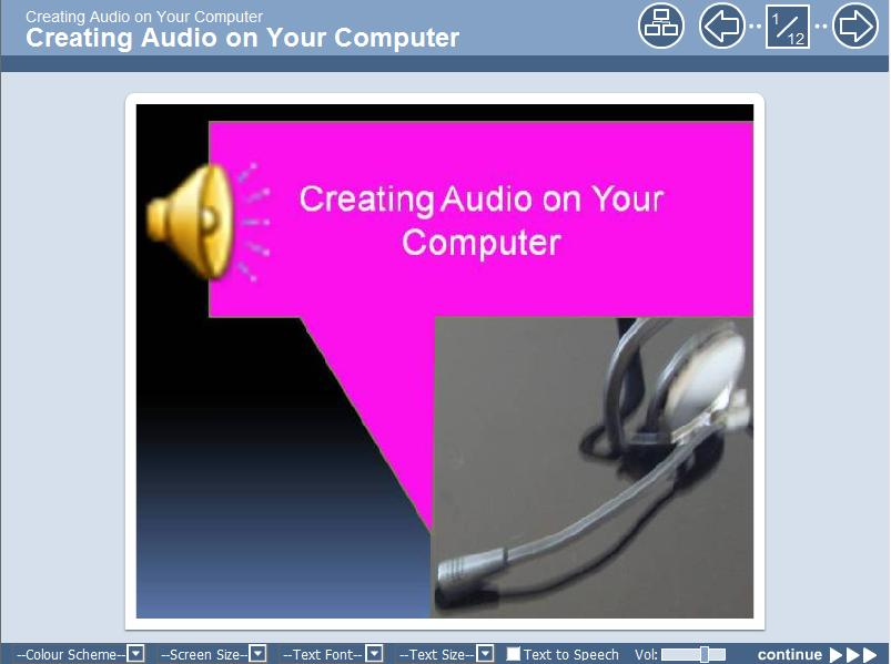Link to Creating Audio from Your Computer learning object