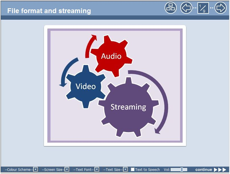 File and streaming Xerte